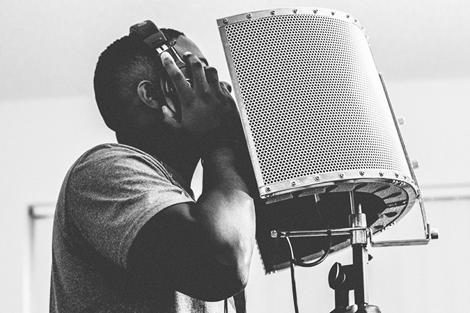 A Man in a Recording Session